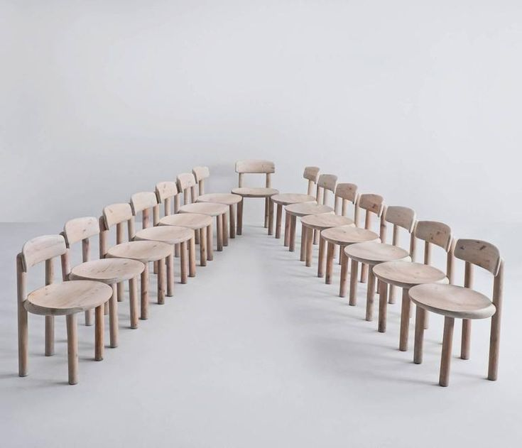 Set of Nine Solid Pine Chairs, with tilt backs, Denmark 1970s 3