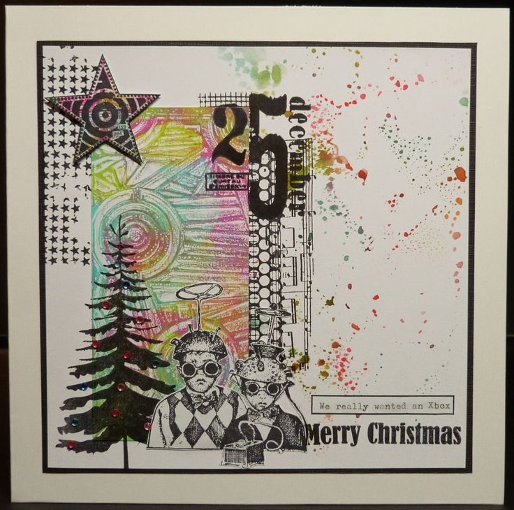 Treasured Moments of Inspiration: Xmas Cards with Gelli print scraps