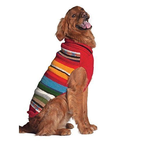 Chilly Dog Sundance Sweater for Dogs, 3X-Large, Red