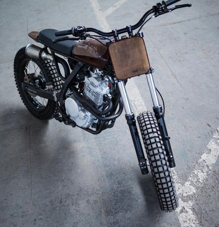 "bikebound: ""Incredible Honda #NX650 #tracker by @dab_design…"