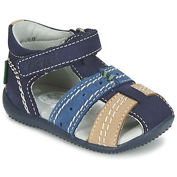 Sandales+et+Nu-pieds+Kickers+BIGBAZAR+Marine+/+Beige+68.99+€