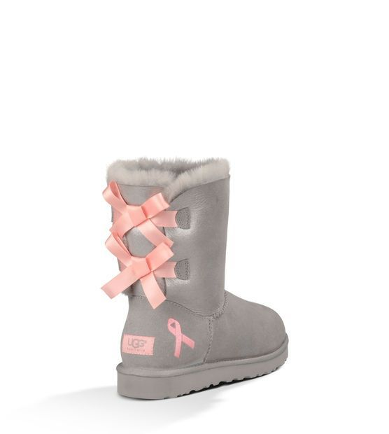 Shiny Bailey Bow UGG Australia Breast Cancer Awareness boots