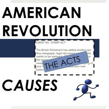 American Revolution: the Acts provides exploration on a major cause of the American Revolution: the taxes placed on the colonists by the British and then gives students three possible activities to explore those taxes. Students create pamphlets, launch a twitter campaign, or engage in a simulation as more and more taxes appear over time.This guide contains step-by-step guidelines for setting up the activities, student directions and informational texts, and a complete materials lists.
