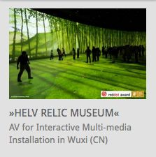 AV Systemintegration for interactive multi-media installation @ Helv Relic Museum, Wuxi (China) // www.kraftwerk.at