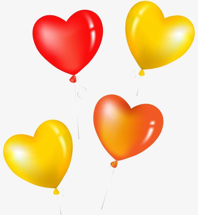 Heart Shaped Balloon Yellow Heart Heart Shapes Balloons
