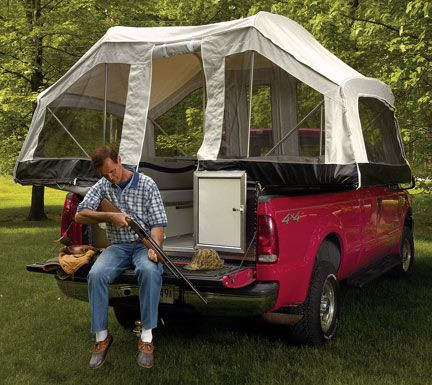 A Truck Camper Pop Up Tent Awesome Idea Fun Mep Camping Reunions Pinterest And