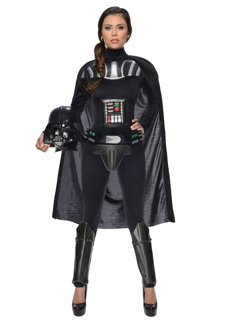 This Star Wars Female Darth Vader Bodysuit gives a sexy twist to the movie villain!