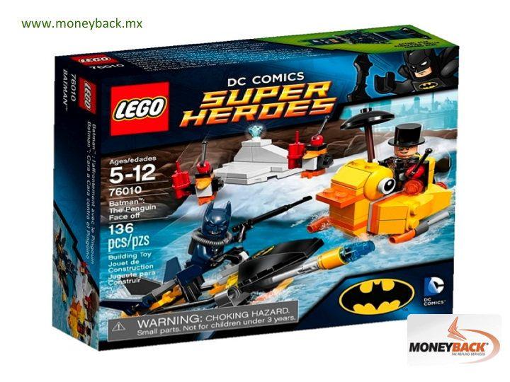 MONEYBACK MÉXICO. La edición de superhéroes de LEGO de DC Comics enfrenta cara a cara a BATMAN contra el PINGÜINO en un producto doble, en donde BATMAN viene provisto de un vehículo submarino y el PINGÜINO de un barco en forma de pato. Ambos vehículos vienen con misiles y las figuras LEGO de los contrincantes. La puedes comprar en JUGUETRON y pedir tu reembolso de impuestos en Moneyback si eres turista viajando en México. + #moneyback www.moneyback.mx  MONEYBACK MEXICO. LEGO's 'BATMAN THE…
