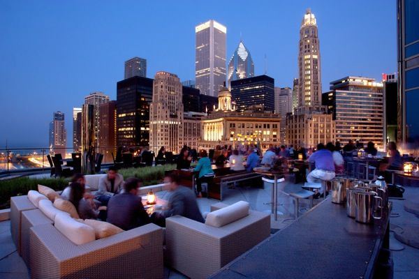 The Terrace at Trump Tower - Chicago! 16th floor. Can see the summer navy pier fireworks show on wednesday and saturday nights.
