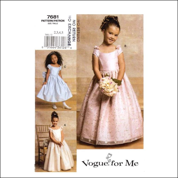 Childrens Bridesmaid Dress Patterns