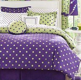 polka dots bedcover for teenage girls bedroom