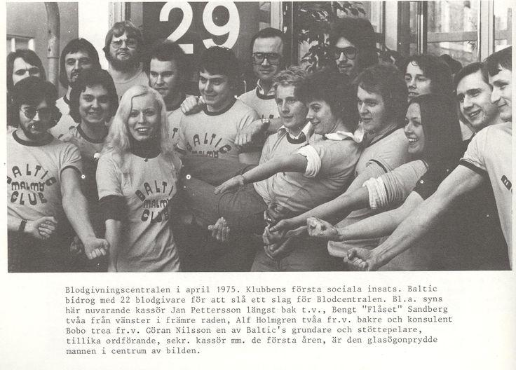 1975 Social verksamhet Baltic Club Malmö