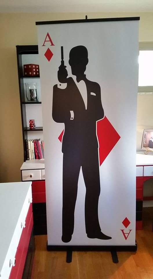 "James Bond Party 7"" Freestanding Display by Elite Casino Events More"