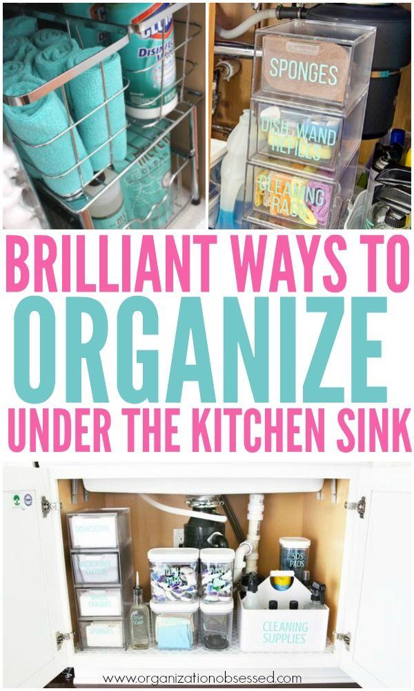 15 Genius Under The Kitchen Sink Organization Ideas Home