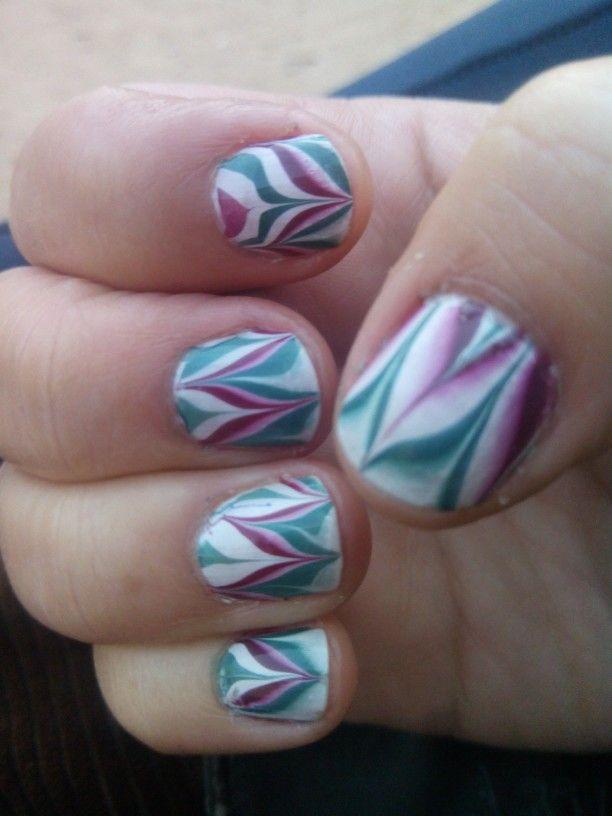 Mis uñas al agua