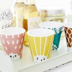 Cup Friendly Face - Yellow #houseofrym #scandinavian #design