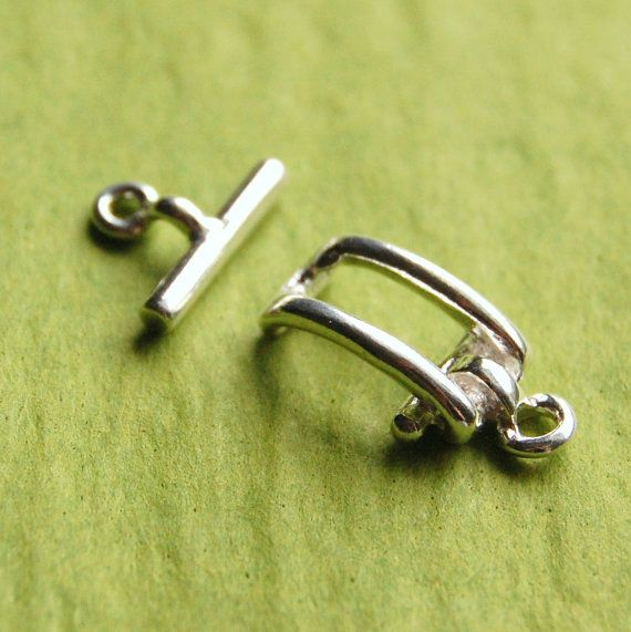 Sterling Silver Rectangle Clasp Silver Toggle Clasp  by BeadSpark, $13.00