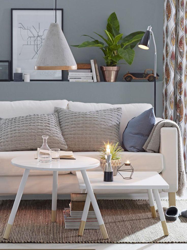 KINNA Soffbord och bänk blir tillsammans fint som soffbord för den skandinaviska looken.