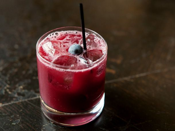 concord crush | This grapey gimlet from Gramercy Tavern is a perfect use of the fresh Concord grapes that you might find at the farmers' market. You can make a batch of the grape purée in advance and freeze it. Just thaw the night before you intend to make the cocktail.