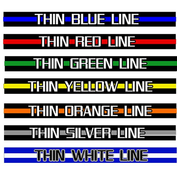 Thin Line Meanings It started with the Thin Blue Line and with the rise of professions and support for protective services and first responders