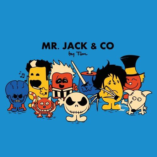 t-shirt Burton | t-shirt jack skeleton | t-shirt geek | tim burton