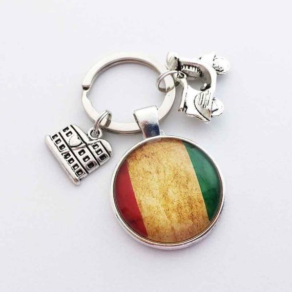 Vintage Keychain ROMA COLOSSEUM Keyring ITALY