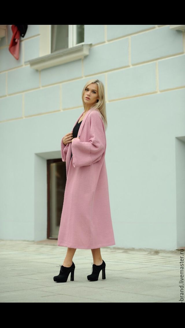 Купить Вязаное пальто - халат с шарфом WARWARA - вязаное пальто, Осеннее пальто, летнее пальто