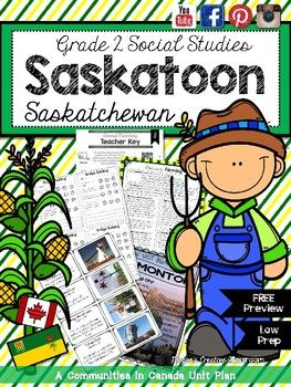 PREVIEW of Communities in Canada: Saskatoon, Saskatchewan (Alberta Social Studies Curriculum) - Coming SOON!!By Megans Creative Classroom(Download this 7 page preview to see the quality of my work! This preview includes 6 pages that are perfect to use in your class - no watermarks just full page printables completely FREE!)Do your students love: * Technology? * Games? * Art projects and crafts? * Colouring, cutting and pasting? * Mini booklets?Well then this unit is exactly what youve been…