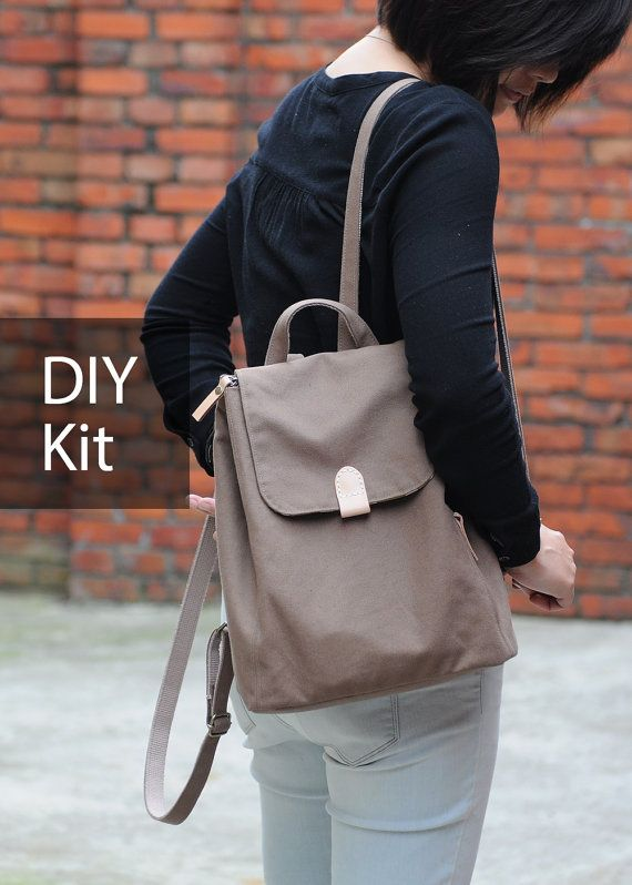 Simple Day Casual Backpack  DIY Kit with Sewing Pattern & by niizo