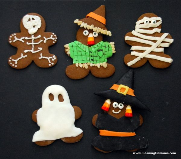 halloween gingerbread cookie mummies and more - Halloween Gingerbread Cookies