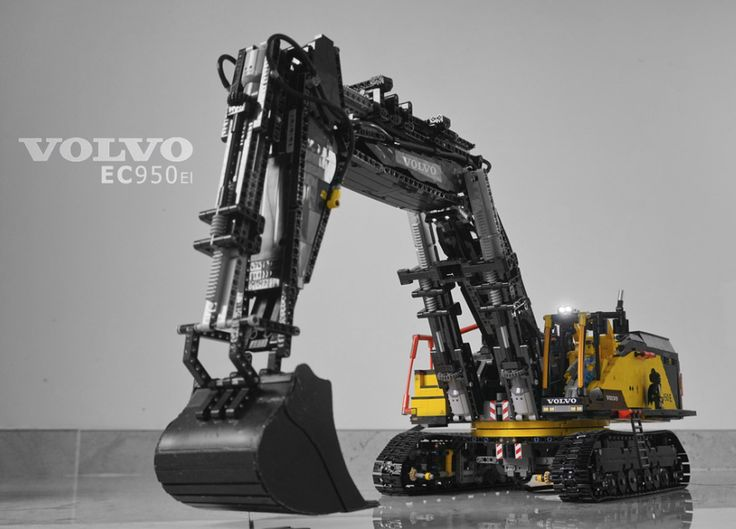 lego technic volvo ec950el excavator remote control lego. Black Bedroom Furniture Sets. Home Design Ideas