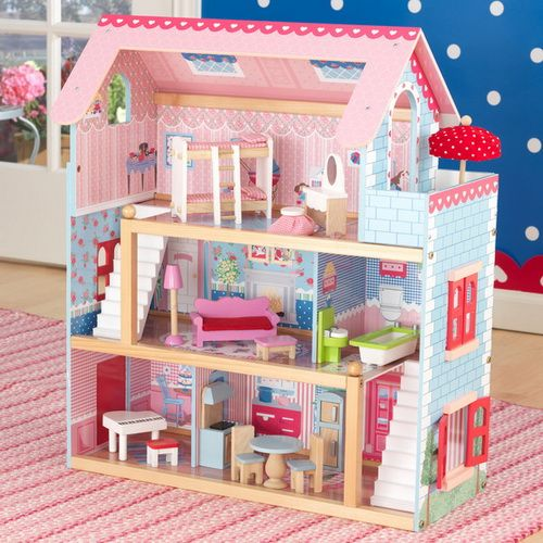 Kidkraft Chelsea Dollhouse 65054 With Furniture For Little Dolls