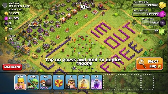 how to use mod for clash of clans