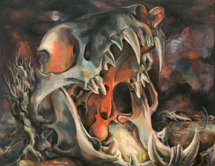"antipahtico:  "" Skull Vision ~ Michael Ayrton 1943  """