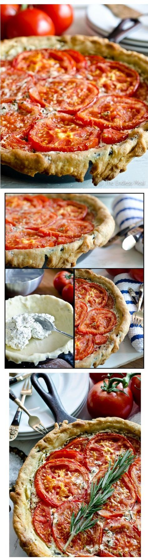 Goat Cheese and Tomato Tart with Rosemary and Mascarpone   The Endless Meal