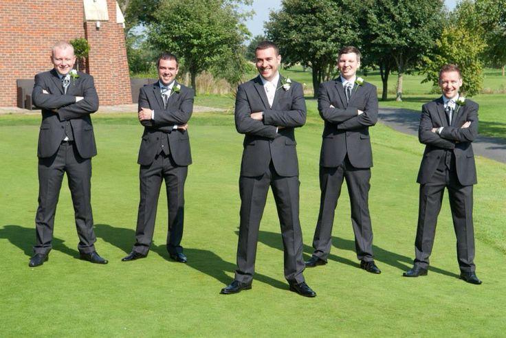 Groomsmen cravats in grey, groom in Ivory