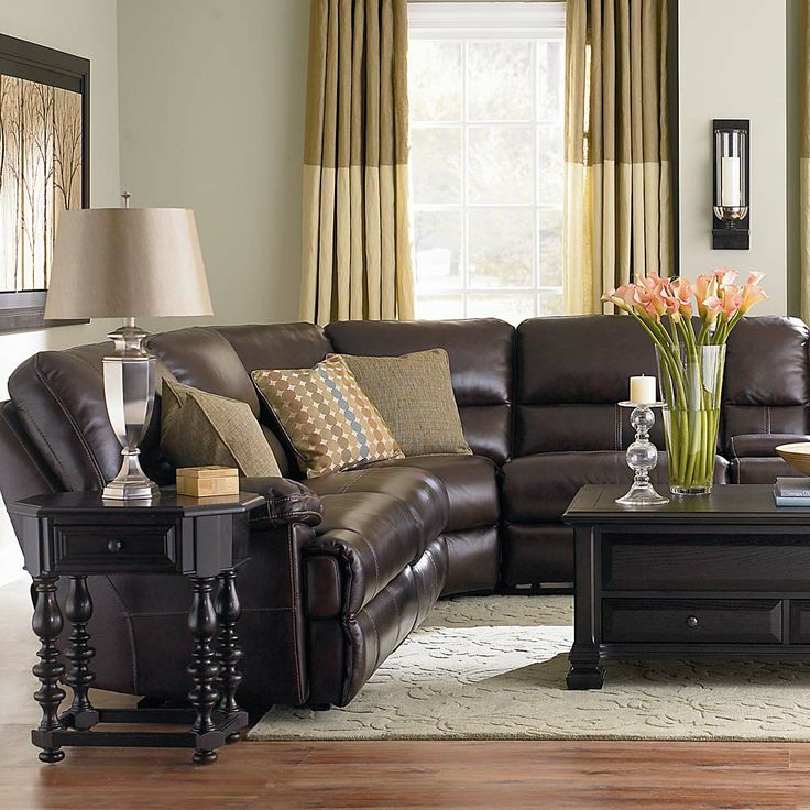 Dillon Motion Leather Sectional By Bassett Furniture