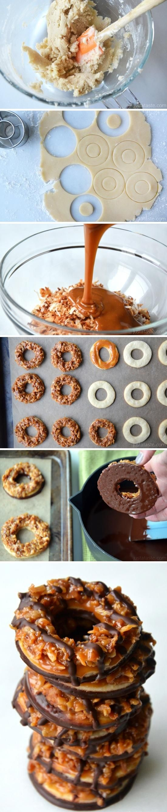 Homemade Samoas Girl Scout Cookies - Joybx