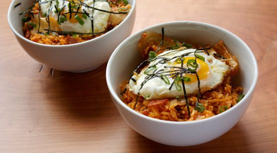 Kimchi Fried Rice: Super Yummy, Rice Recipes, Yummy Recipes, Kimchi Fries, Namu Gaji, Dennis Lee, Fries Rice, San Francisco, Hot Dogs
