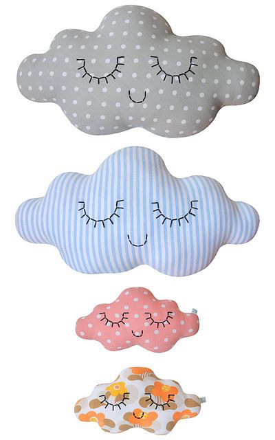 ¡Decora la #habitación de tus hijos con estos OKriginales #cojines de #nubes!