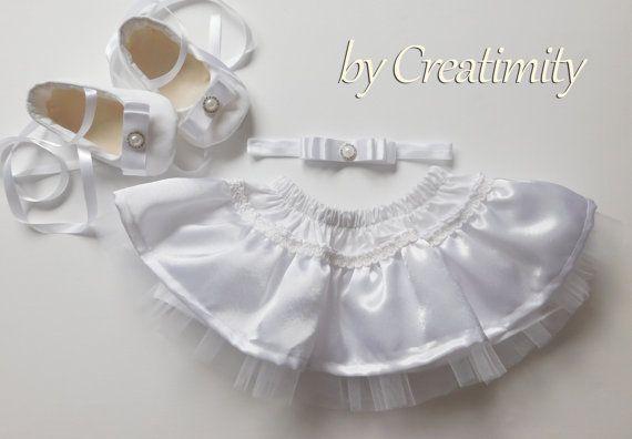 Baby setbaby giftwhite tutuwhite by CreatimityElegance on Etsy