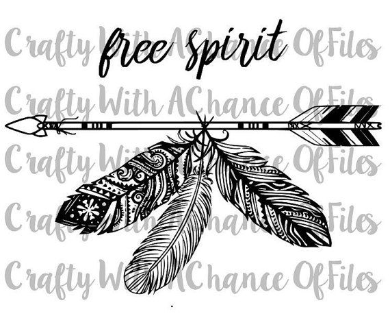 Free Spirit Boho Feather Tribal Arrow Indian by CraftyWACofFiles