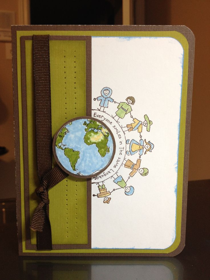 The World Over Stampin Up set.  I love the globe with the curved little people. Case'd card #5