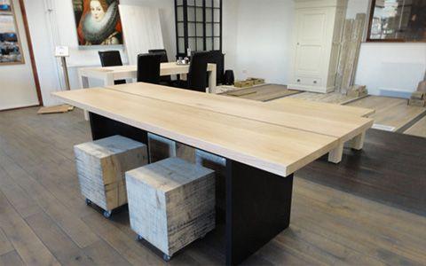eiken designtafel 2 plank