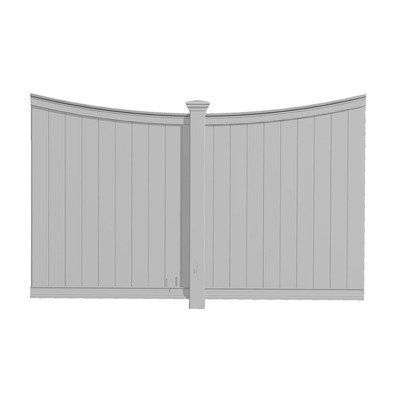 Privacy Panel by New England Arbors. $516.29. VA42025 Features: -Privacy panel.-Add privacy to your pergola.-Designed to fit a 110'' opening.-Highest point 70-3/4'' and the center post is 5''. Color/Finish: -Color: White. Assembly Instructions: -Assembly required. Dimensions: -Dimensions: 110'' H x 74.87'' W x 6'' D.