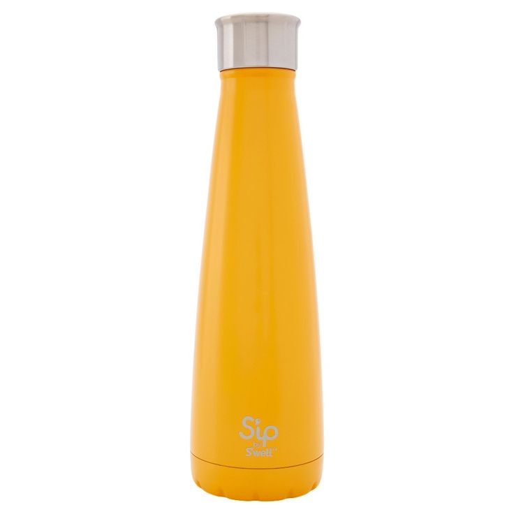 S'ip by S'well Water Bottle 15oz Stainless Steel - Orange Cream Taffy