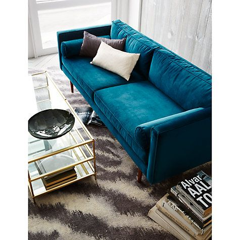 Buy west elm Diffused Zebra Printed Rug, Platinum Online at johnlewis.com