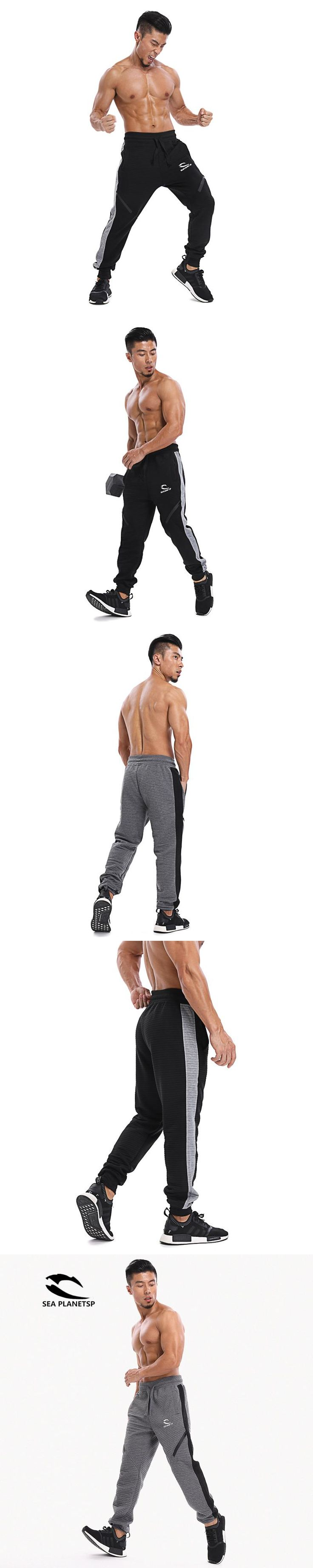 SEA PLANETSP  Brand Autumn Winter New Gyms Pants Joggers Casual Pants Men Trousers Sporting Professional Bodybuilding Sweatpants