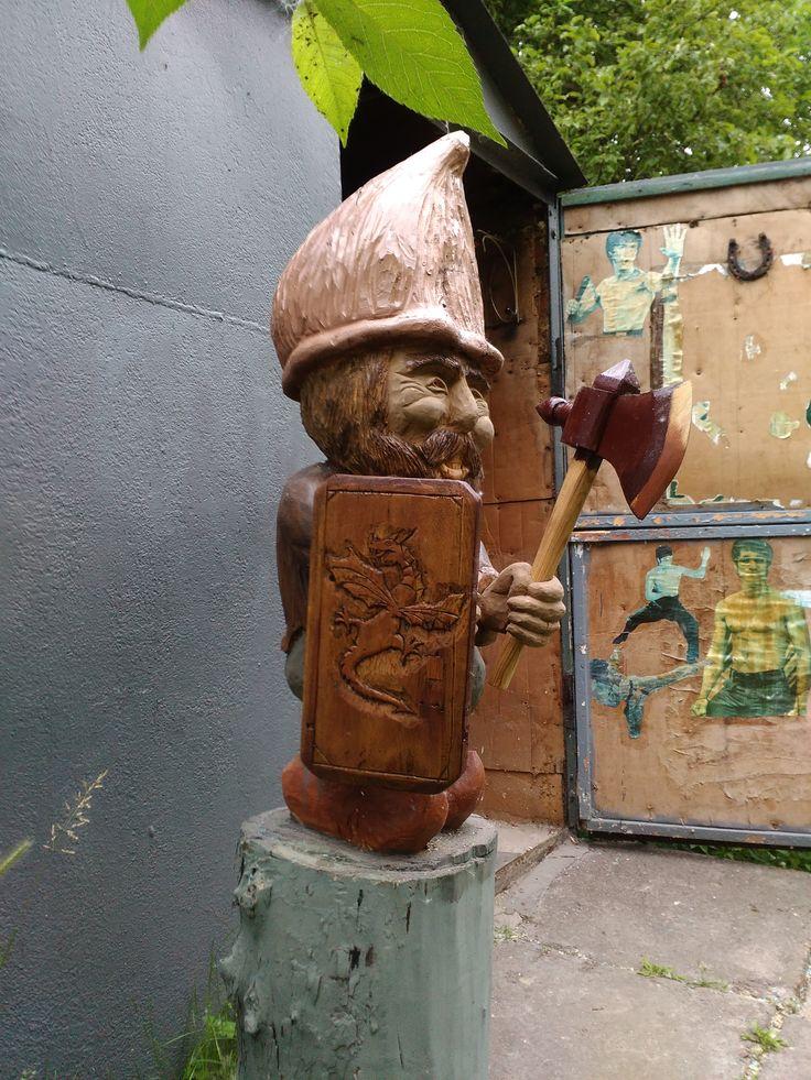 скульптура из цельного бревна(тополь)