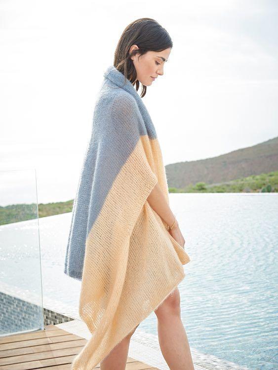 DIY-Anleitung: Stola stricken, die auch als Poncho getragen werden kann via DaWanda.com
